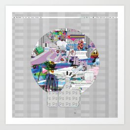 grey mandala Art Print