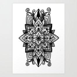 Mandala Curley Art Print