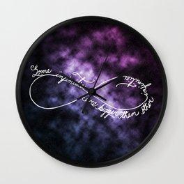 Infinities Wall Clock
