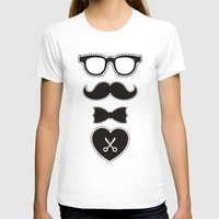 mustache T-shirts featuring Mustache by frail