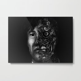 Harvey Dent Two Face - Movie Inspired Art Metal Print