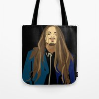 gangster Tote Bags featuring Gangster by Elena Medero