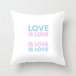 Love Is Love Is Love Trans Pride Flag Transgender LGBTQ Pun Gift Cool Humor Design Throw Pillow