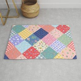 Happy patchwork quilt Rug