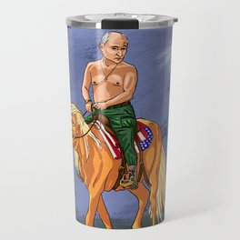 Putin Holds the Reins Travel Mug