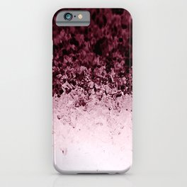 Burgundy CrYSTALS Ombre Gradient iPhone Case