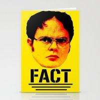 "dwight schrute Stationery Cards featuring Dwight Schrute ""FACT"" by Silvio Ledbetter"