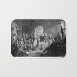 Washington Meeting His Generals Bath Mat