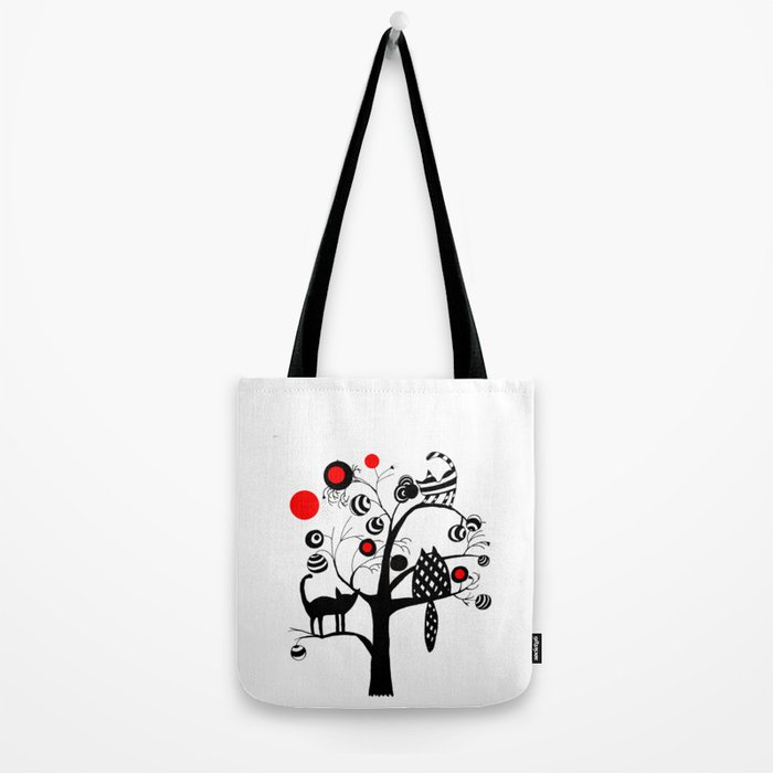 cats and fruits Tote Bag