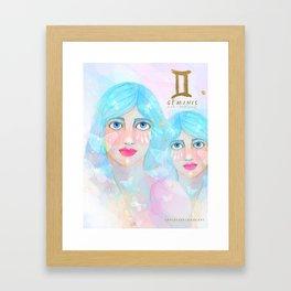 Geminis Queen Framed Art Print