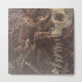 Catacomb Culture - Lost in the Woods Human Skull Metal Print