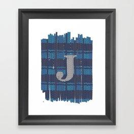 Winter clothes. Letter J. Framed Art Print