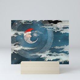 Santa Glow Mini Art Print