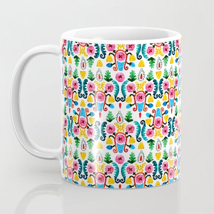 Colorful oriental watercolor floral pattern. Coffee Mug