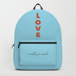 Love is all - typography Backpack