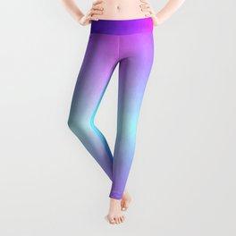 Four color blue, purple, pink, white ombre Leggings