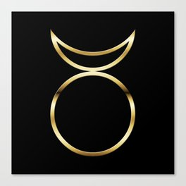 Horned God Symbol Canvas Print