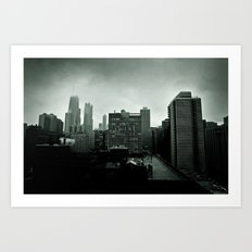 Winter in Chicago Art Print