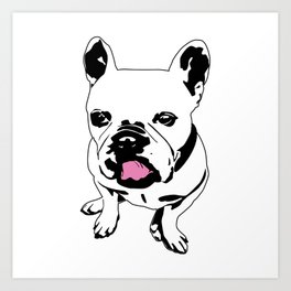 King Louie the Frenchie Art Print