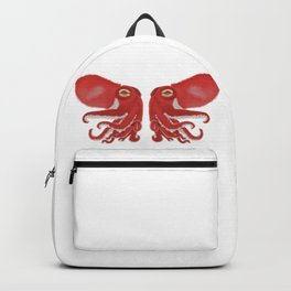 Red squid confrontation Backpack