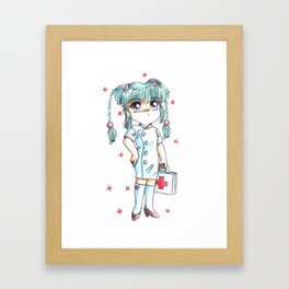 Nya Nya Nurse Framed Art Print