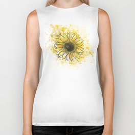 Sun/Flower Biker Tank