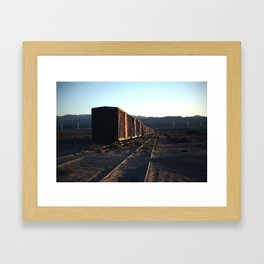 Freight Train Blues Framed Art Print