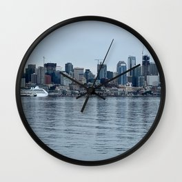 Drink at the Seattle Skyline Wall Clock