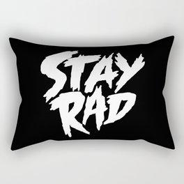 Stay Rad (on Black) Rectangular Pillow