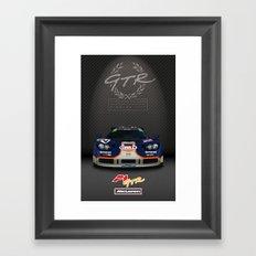 1995 McLaren F1 GTR Le Mans - Gulf Livery Framed Art Print