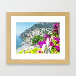 Positano, Amalfi Coast, Italy Framed Art Print