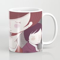 pride and prejudice Mugs featuring Pride and Prejudice by Nan Lawson