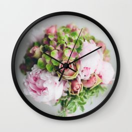 Say it with flowers - Roses, Peonies & other loveliness Wall Clock