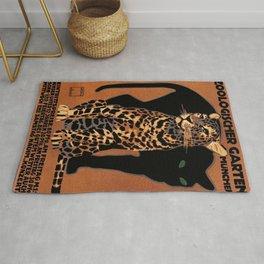 Vintage Munich Zoo Leopard 1912 Advertisement Rug