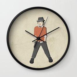 boys formal wear orange print Wall Clock