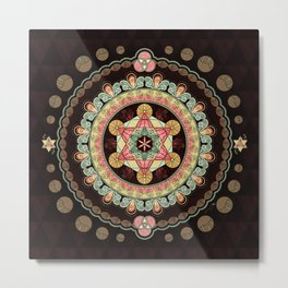 Merkabah Transformational Bliss Metal Print