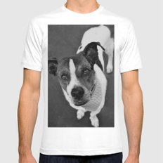 hello doggie MEDIUM White Mens Fitted Tee