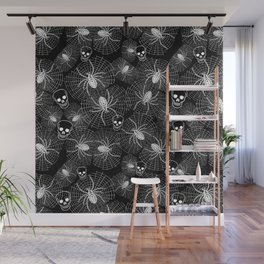 Spiders and Skulls Inverted Wall Mural
