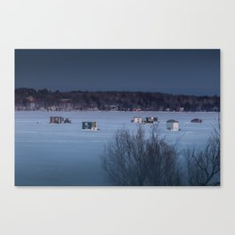 Ice Fishing on Fish Hook Lake Canvas Print