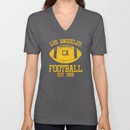 Los Angeles Football Fan Gift Present Idea Unisex V-Neck
