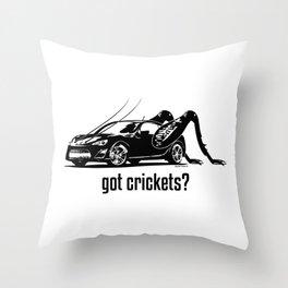 Got Crickets? ~Black~ Throw Pillow