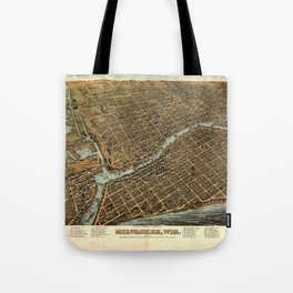 Aerial View of Milwaukee, Wisconsin (1872) Tote Bag