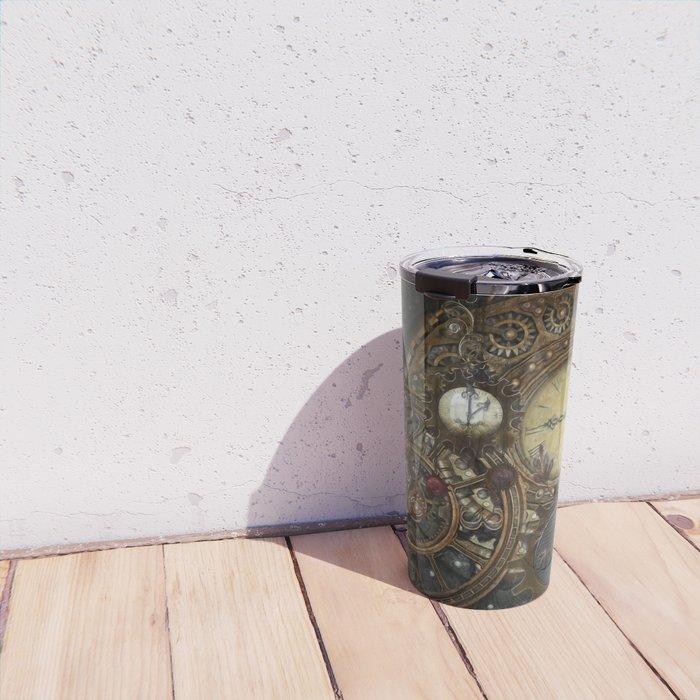 Steampunk Clocks Travel Mug