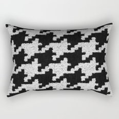 Monochrome Houndstooth Fashion Black And White Rectangular Pillow