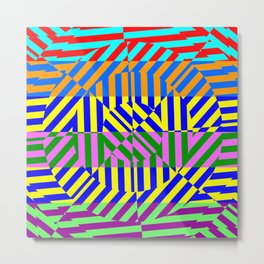 Best Abstract Art (80s Colors Background) Metal Print