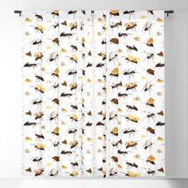 Ants Carrying Snacks Blackout Curtain