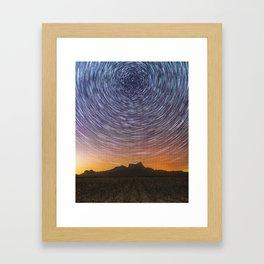 Midnight Stars over Picacho Framed Art Print