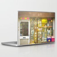 record Laptop & iPad Skins featuring Record Store by Cassia Beck