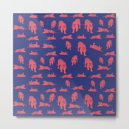 Tiger Patters Metal Print