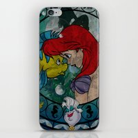 ariel iPhone & iPod Skins featuring Ariel by Mazuki Arts